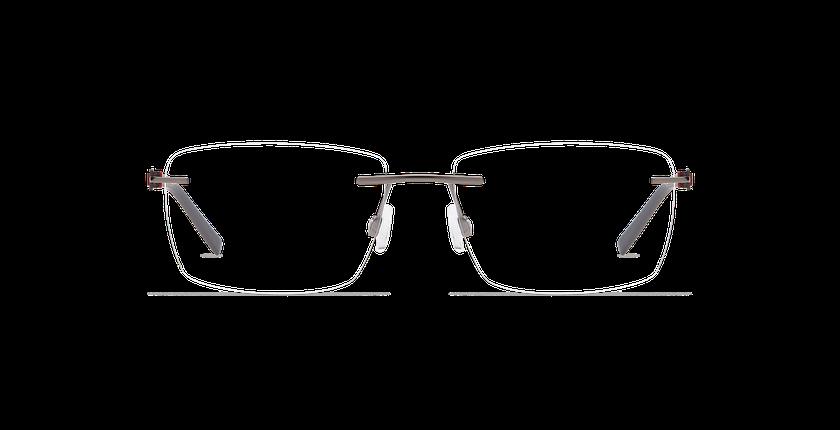 Lunettes de vue homme ALPHA10 gris - Vue de face