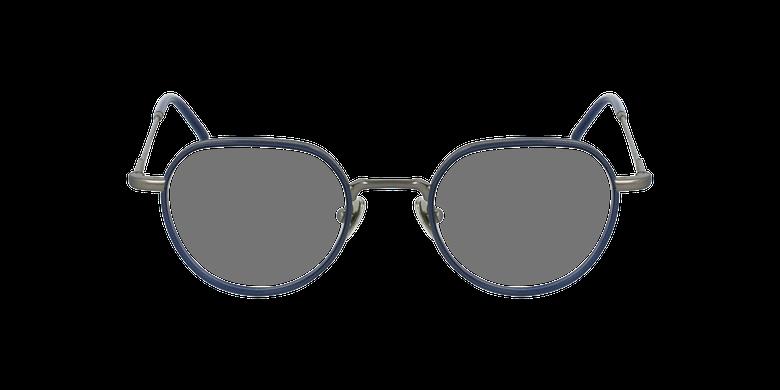 Lunettes de vue DEBUSSY argenté/bleuVue de face