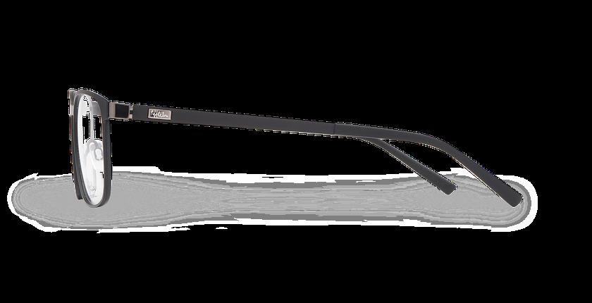 Lunettes de vue homme ALPHA17 noir/gris - Vue de côté