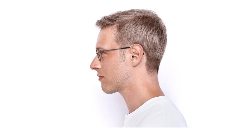 Lunettes de vue homme RZERO17 gris - Vue de côté