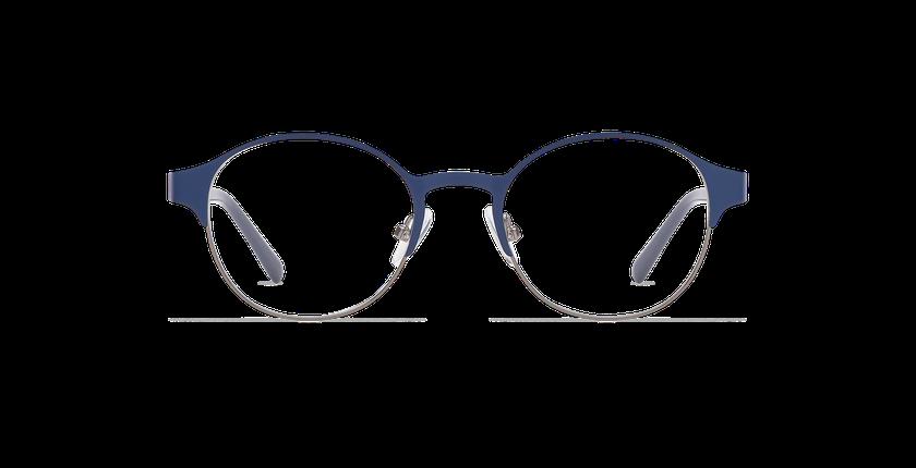 Lunettes de vue femme CAMILLE bleu/gris - Vue de face
