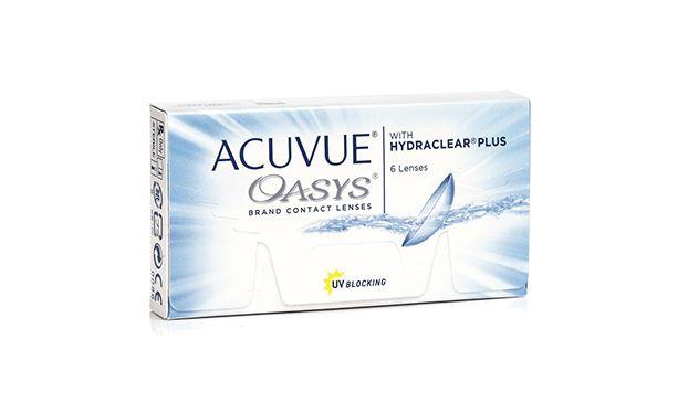 Lentilles de contact Acuvue® Oasys® with Hydraclear® Plus 6L - Vue de face