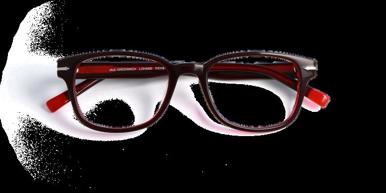 Lunettes de vue homme GREENWICH rouge/rouge