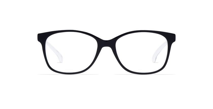Lunettes de vue femme DOTTIE noir - Vue de face