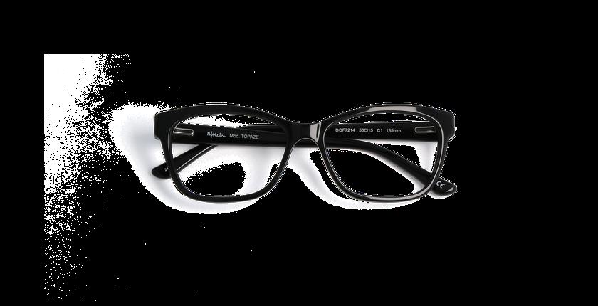 Lunettes de vue femme TOPAZE noir - Vue de face