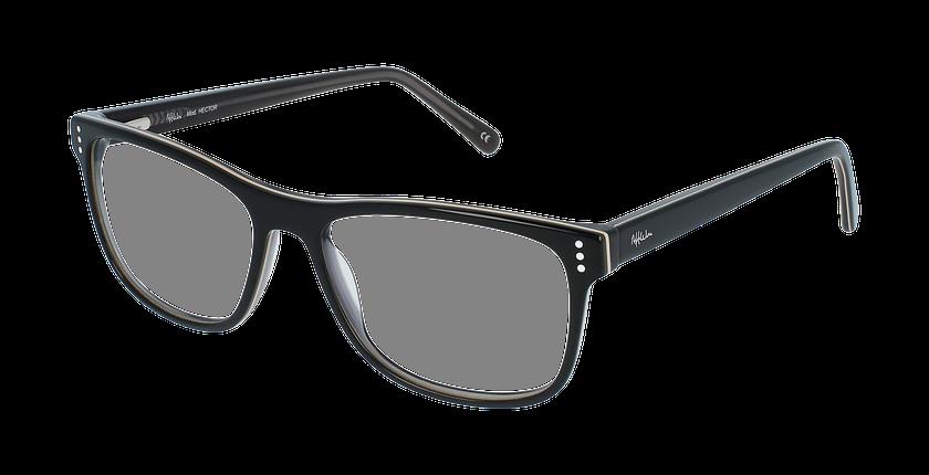 Lunettes de vue homme HECTOR noir/gris - vue de 3/4