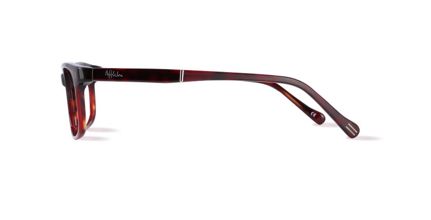 Lunettes de vue homme PARKLANE écaille/rouge - Vue de côté