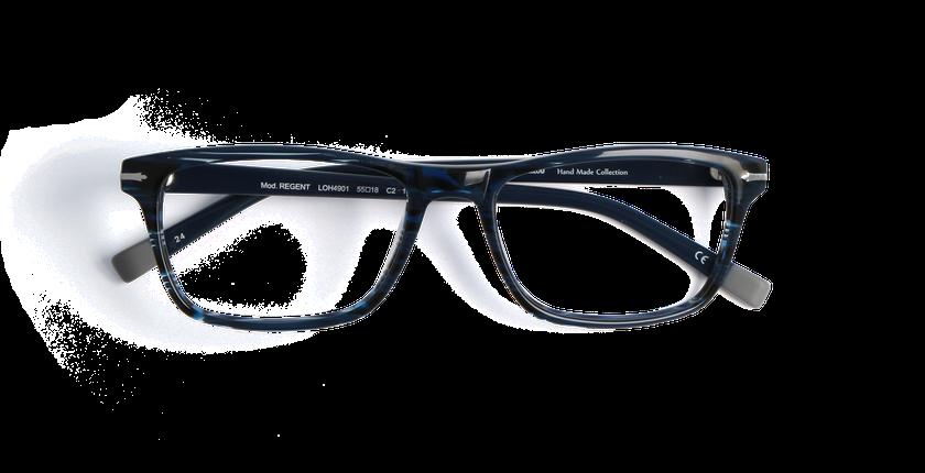 Lunettes de vue homme REGENT bleu/écaille - Vue de face