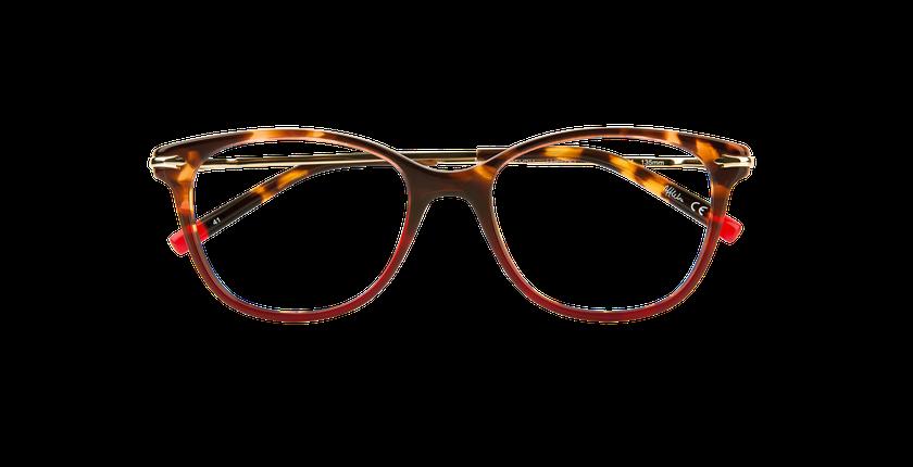 Lunettes de vue femme WATERFORD rouge - Vue de face