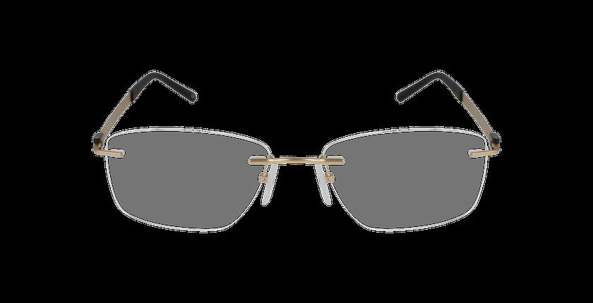 Lunettes de vue homme IDEALE-03 doré/marron - Vue de face