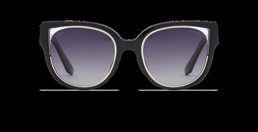 Lunettes de soleil femme MAHEA POLARIZED noir/argenté - Vue de face