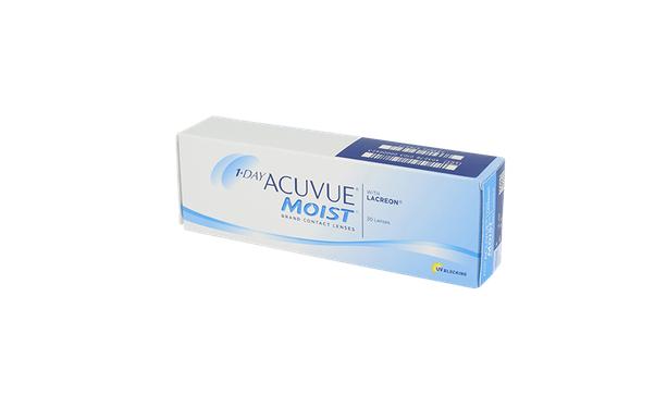 Lentilles de contact 1 Day Acuvue Moist 30L - Vue de face