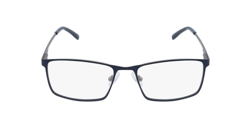 Lunettes de vue homme CEDRIC bleu/gris - Vue de face