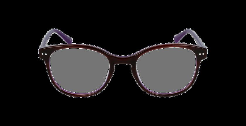 Lunettes de vue enfant TESS écaille/violet - Vue de face