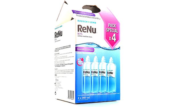 Renu MPS Pack 4 - 3 x 360 ml + 1 x 360 ml offert