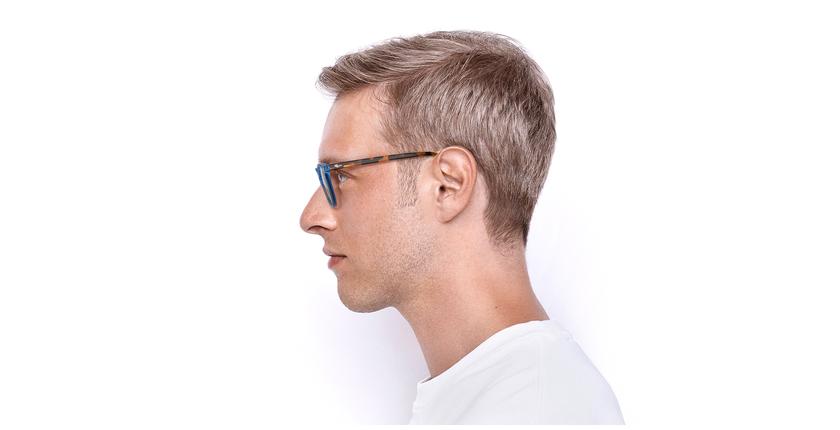 Lunettes de vue homme VIGGO bleu/écaille - Vue de côté
