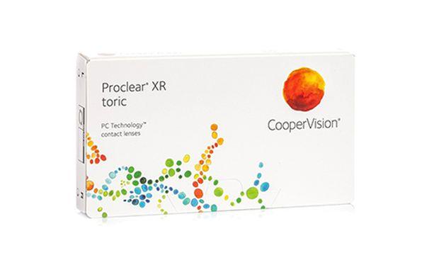 Lentilles de contact Proclear® Toric XR 3L - Vue de face
