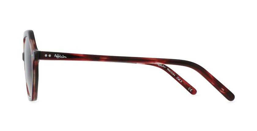 Lunettes de soleil femme CLEA rouge - Vue de côté
