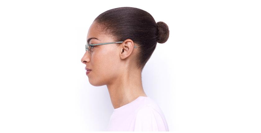 Lunettes de vue femme IDEALE-26 vert - Vue de côté
