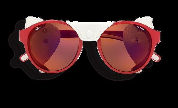Lunettes de soleil femme FLOCON rouge - danio.store.product.image_view_face