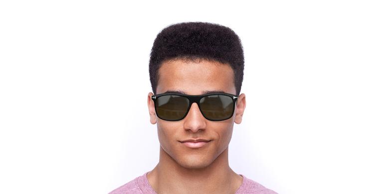 Lunettes de soleil homme MAX noir/marron