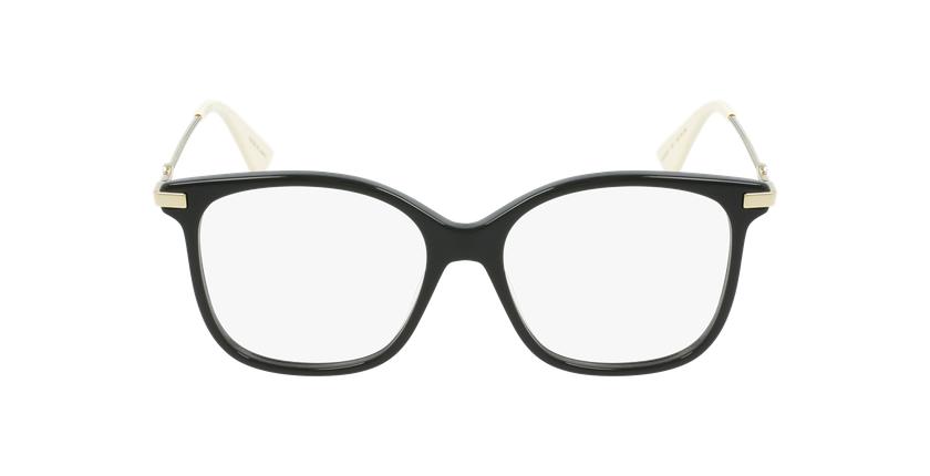 Lunettes de vue femme GG512O noir/doré - Vue de face