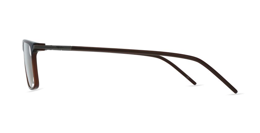 Lunettes de vue homme MAGIC 72 marron - Vue de côté