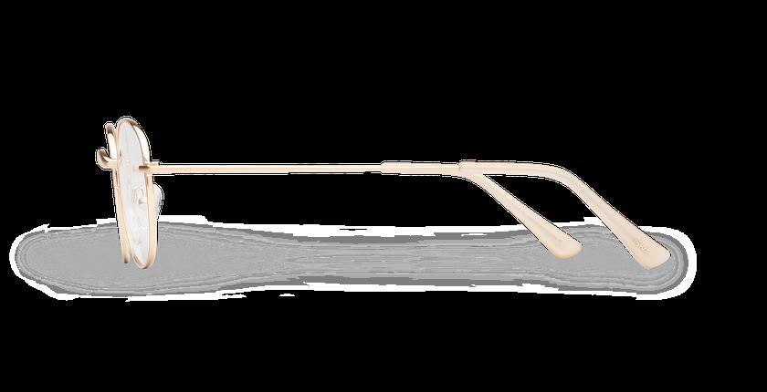 Lunettes de vue MAYSON doré - Vue de côté