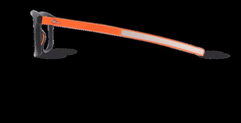 Lunettes de vue homme ERIC noir - Vue de côté