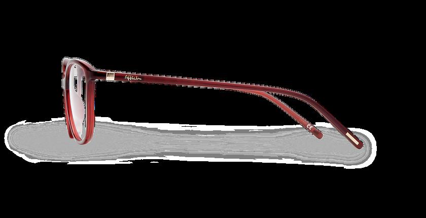 Lunettes de vue femme LIGHT TONIC rouge - Vue de côté
