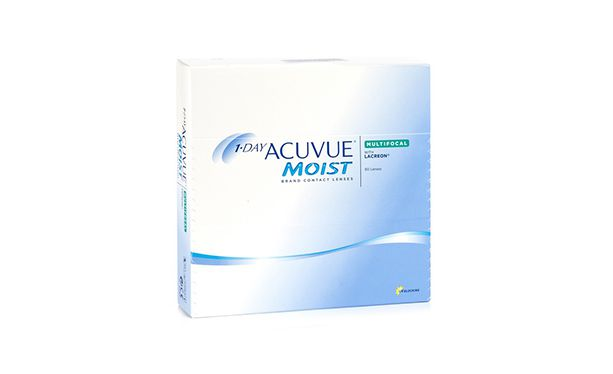 Lentilles de contact 1 Day Acuvue® Moist® Multifocal 90L - Vue de face