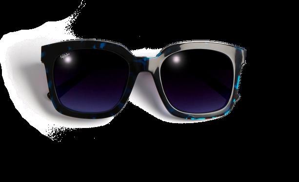 Lunettes de soleil femme CECILE écaille/bleu - danio.store.product.image_view_face