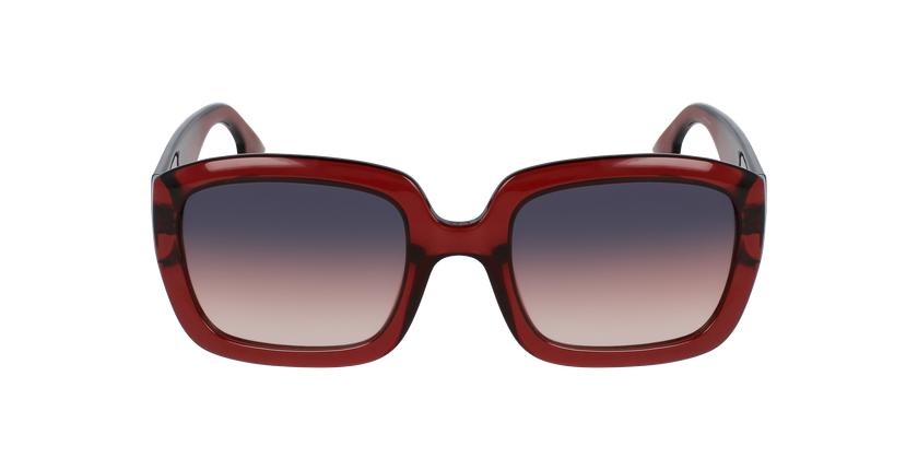 Lunettes de soleil femme DDIOR rouge - Vue de face