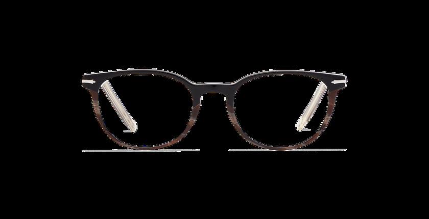 Lunettes de vue femme NANTUA noir/marron - Vue de face