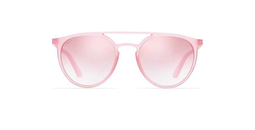 Lunettes de soleil MILAGRO rose - Vue de face