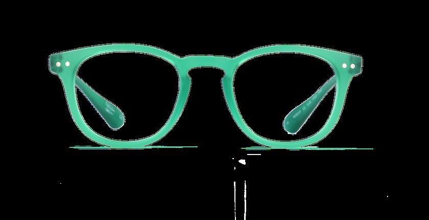 Lunettes de vue BLUE BLOCK MIXTE vert - Vue de face