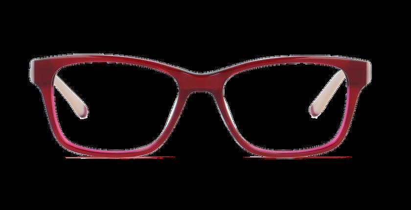 Lunettes de vue femme STONE rouge/marron - Vue de face