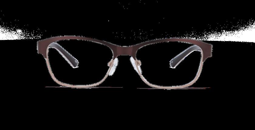 Lunettes de vue femme ARIANE marron - Vue de face