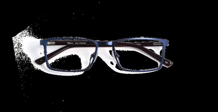 Lunettes de vue homme CHARLES bleu - Vue de face