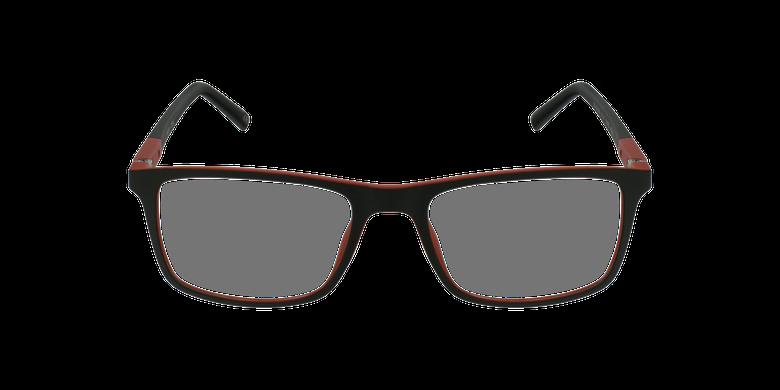 Lunettes de vue homme CESAR noir/rougeVue de face