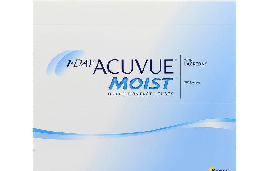 Lentilles de contact 1 Day Acuvue® Moist® 180L - Vue de face ... 65b40edd3c4d