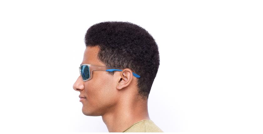 Lunettes de soleil homme IGOR POLARIZED blanc/bleu - Vue de côté