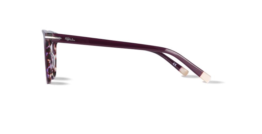 Lunettes de vue femme WINDSOR violet/écaille - Vue de côté