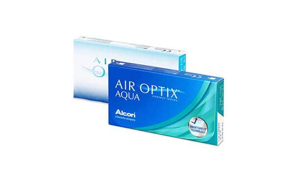 Lentilles de contact Air Optix Aqua 6L - Vue de face