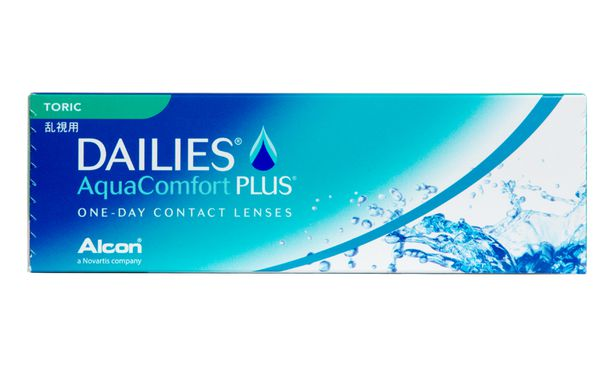 Lentilles de contact Dailies AquaComfort Plus Toric 30L - Vue de face