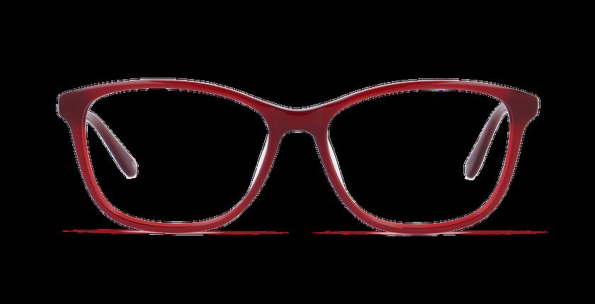 Lunettes de vue femme DAFNE rouge - Vue de face