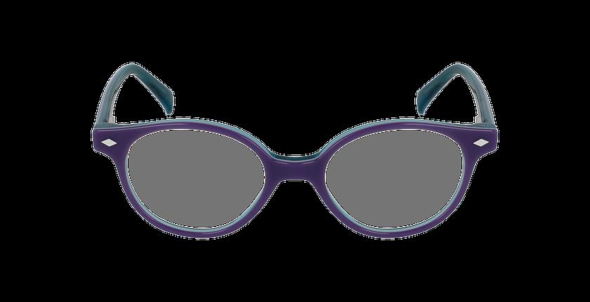 Lunettes de vue enfant ILONA violet/turquoise - Vue de face