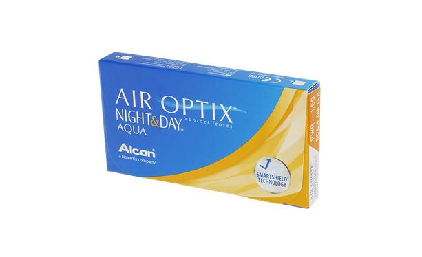 Lentilles de contact Air Optix Aqua Night Day 6,4 6L - Vue de face
