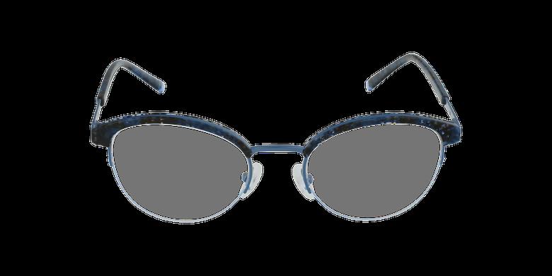 Lunettes de vue femme STRAUSS écaille/bleuVue de face