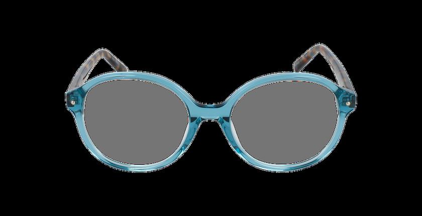 Lunettes de vue femme AMATA bleu - Vue de face